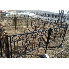 Ограда кованая на могилу №30