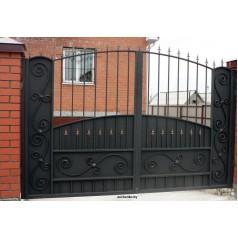 Ворота кованые №072 (средняя стоимость 1812 бел. руб.)