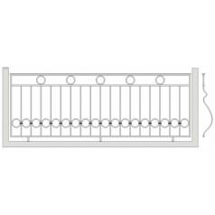 Кованое балконное ограждения Б-3