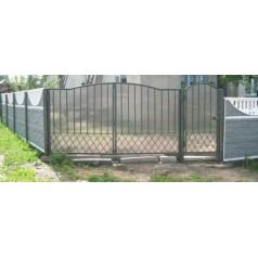 Ворота с поликарбонатом V003.