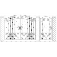 Ворота кованые №101 (средняя стоимость 3080 бел. руб.)