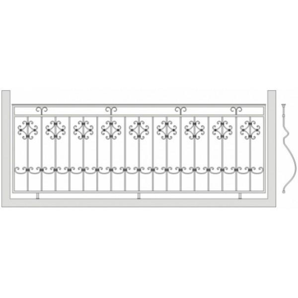 Кованое балконное ограждения Б-6