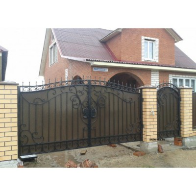 Ворота кованые №075 (средняя стоимость 2581 бел. руб.)