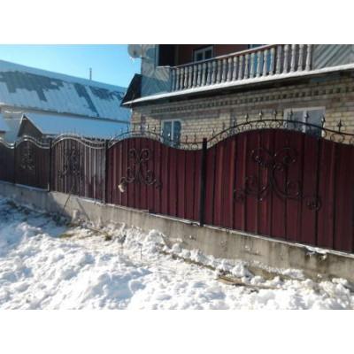 Забор кованый в Черикове №063