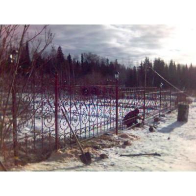 Забор кованый №0150 в Могилеве
