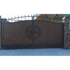 Ворота кованые №071 (средняя стоимость 1458 бел. руб.)