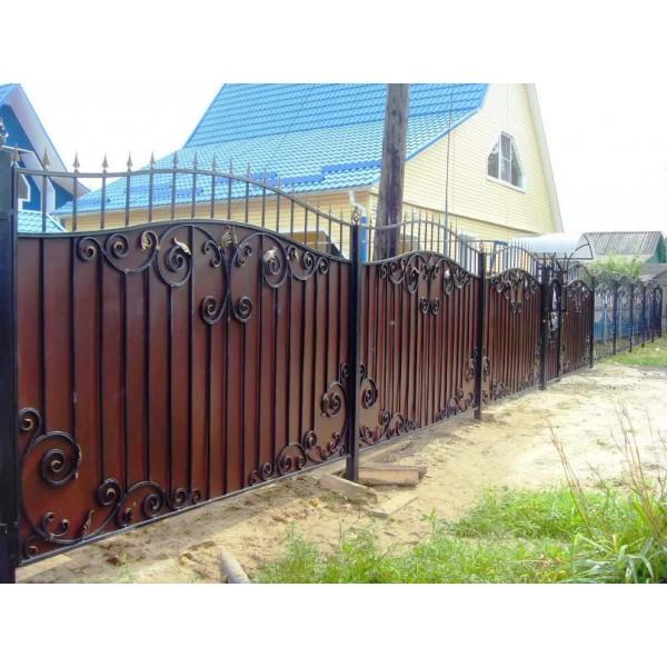 Кованый забор в Беларуси №0145