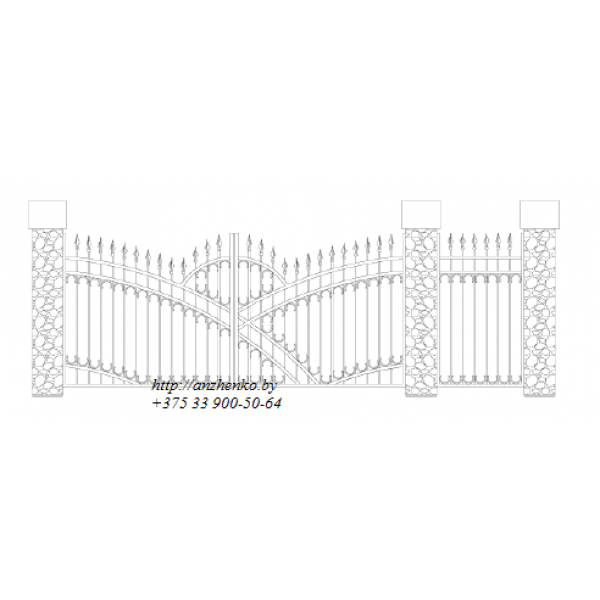 Ворота кованые№056