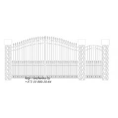 Ворота кованые №054 (средняя стоимость 1344 бел. руб.)