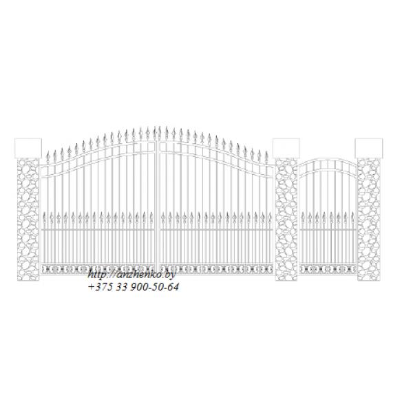 Ворота кованые №054