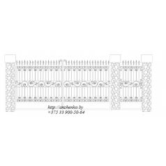 Ворота кованые №079 (средняя стоимость 1800 бел. руб.)