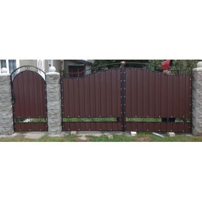 Ворота из металлопрофиля №02