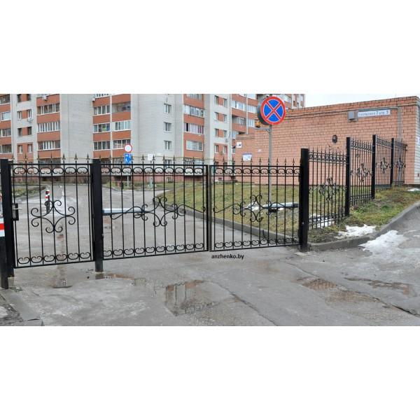 Ворота кованые №094