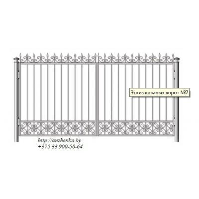 Ворота кованые №077 (средняя стоимость 1995 бел. руб.)