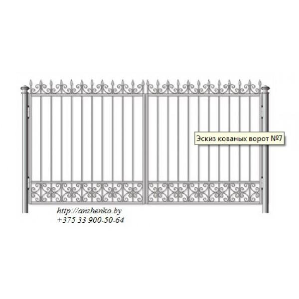 Ворота кованые №077