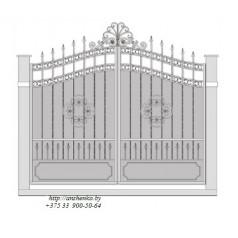 Ворота кованые №060 (средняя стоимость 2936 бел. руб.)