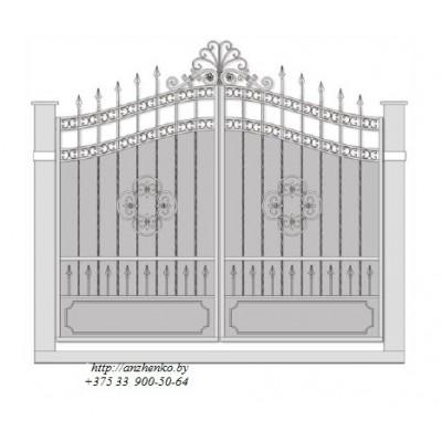 Ворота кованые №060 (средняя стоимость 4200 бел. руб.)