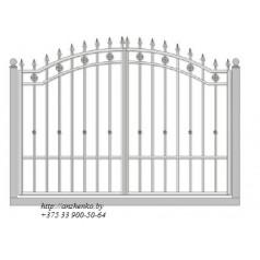 Ворота кованые №044 (средняя стоимость 1820 бел. руб.)
