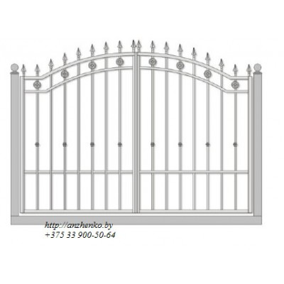 Ворота кованые №044