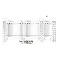 Ворота кованые №052 (средняя стоимость 1436 бел. руб.)