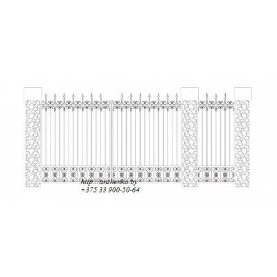 Ворота кованые №055 (средняя стоимость 1428 бел. руб.)