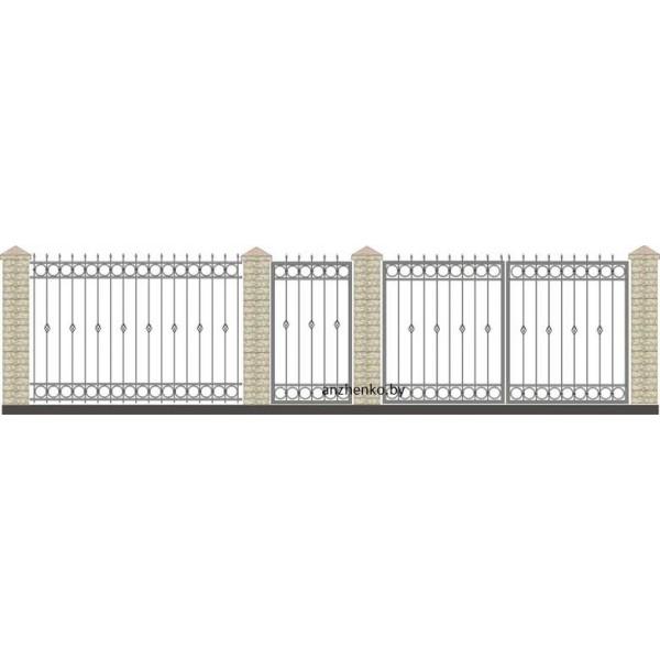 Забор кованый №014