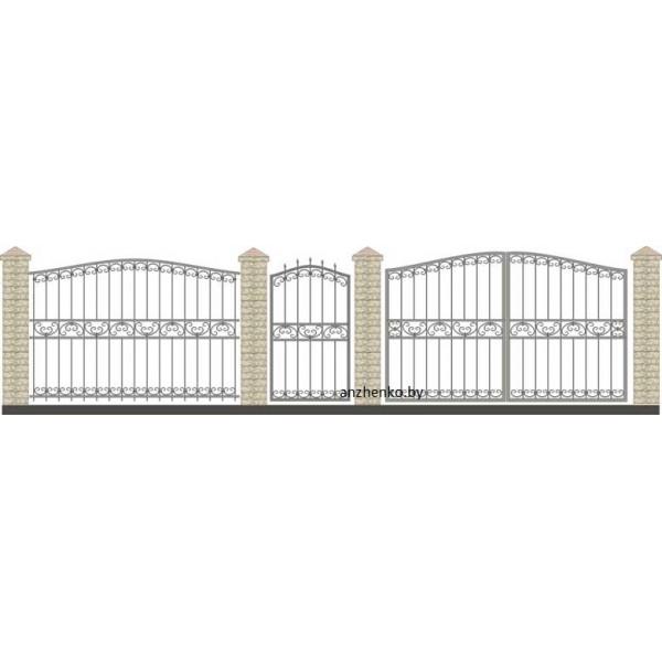 Забор кованый №034