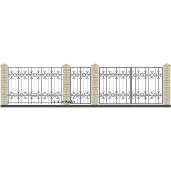 Забор кованый №015