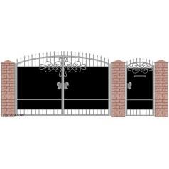 Ворота кованые №078 (средняя стоимость 1747 бел. руб.)