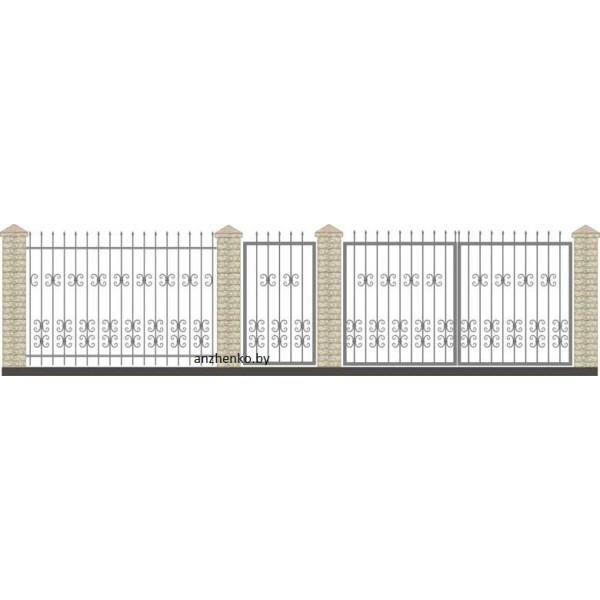Забор кованый №011