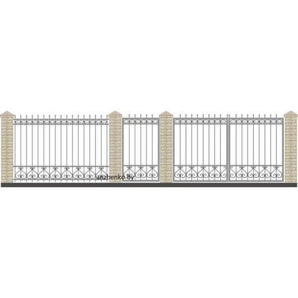 Забор кованый №020