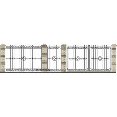 Забор кованый№035
