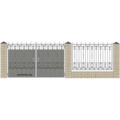 Забор кованый №050