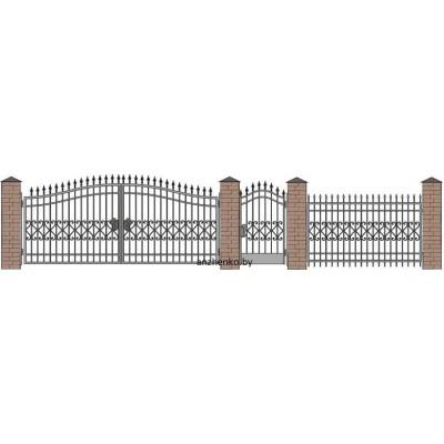 Забор кованый №025