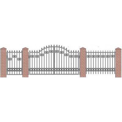 Забор кованый №012