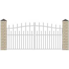Ворота кованые №043 (средняя стоимость 1310 бел. руб.)