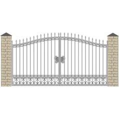Ворота кованые №076 (средняя стоимость 1444 бел. руб.)