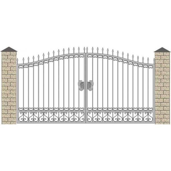 Ворота кованые№076