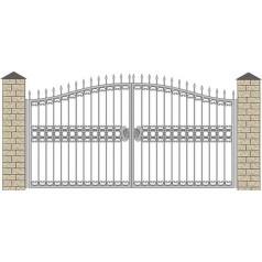 Ворота кованые №057 (средняя стоимость 1448 бел. руб.)