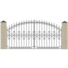 Ворота кованые №058 (средняя стоимость 1460 бел. руб.)