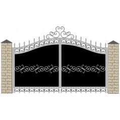 Ворота кованые №059 (средняя стоимость 1881 бел. руб.)
