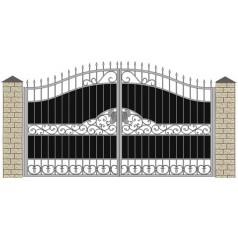 Ворота кованые №080 (средняя стоимость 2016 бел. руб.)