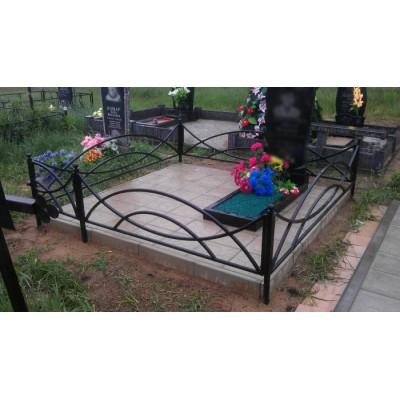 Ограда на могилу №2