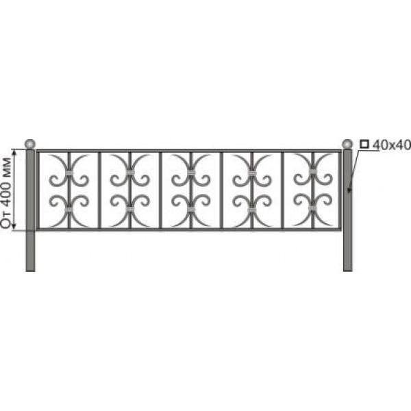 Ограда на могилу №26
