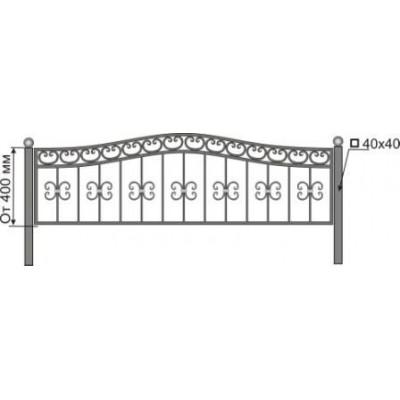 Ограда на могилу №28