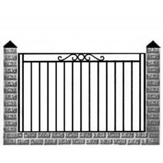 Кованый забор №0155
