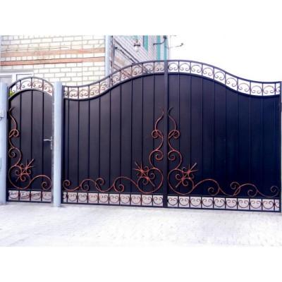 Ворота кованые №093 (средняя стоимость 2082 бел. руб.)