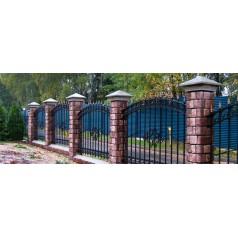 Кованый забор №0147 В Бобруйске