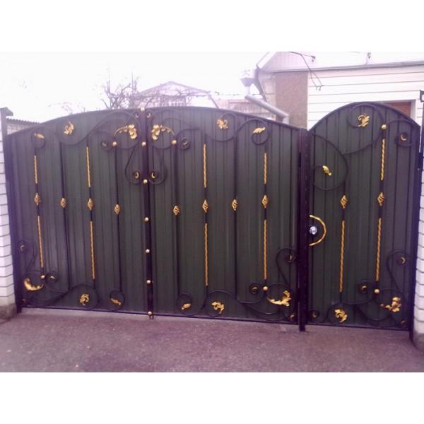 Ворота кованые №0202