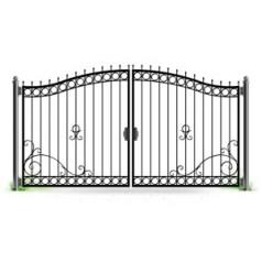 Ворота кованые №062 (средняя стоимость 1357 бел. руб.)